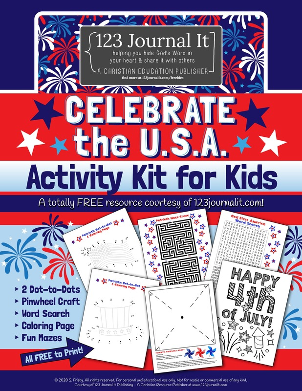 Free Printable PDF Patriotic 4th of July or Presidents Day Activity Kit for Kids