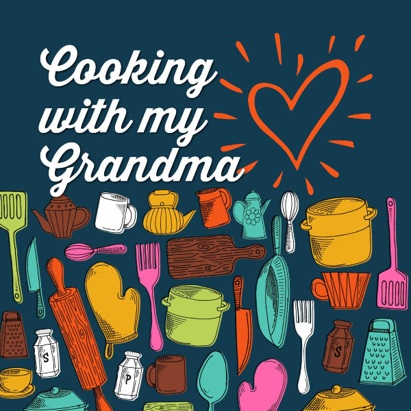Kids Cooking Activity Journal for Recording Recipes with Grandma