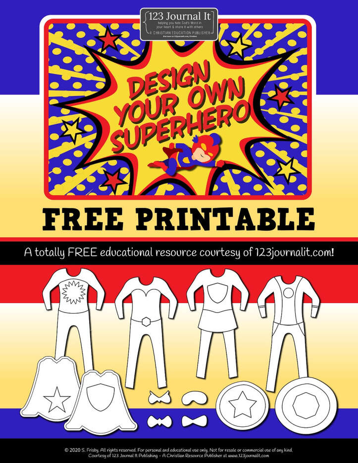Design Your Own Superhero Free Printable PDF Activity Kit for Kids to Download with Coloring Pages