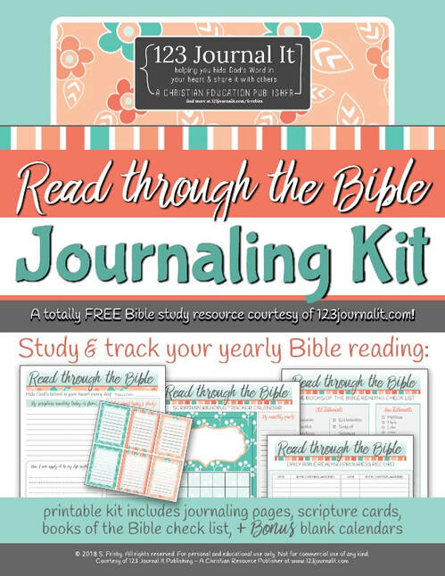 Free Fall printable bible journaling PDF by 123 Journal It Publishing